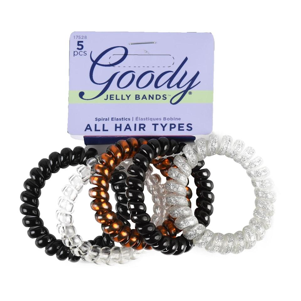 <p>Anyone who uses hair ties and scrunchies on a regular basis can attest: you can never have too many. The <span>Goody Trend Clear Black Coil Elastic</span> ($4) comes in a five-pack and matches with all hair colors.</p>