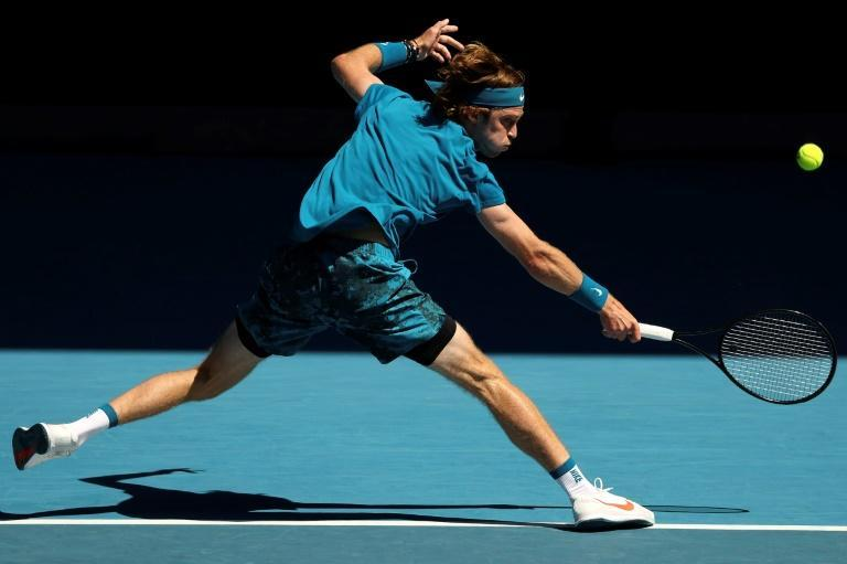 Russia's Andrey Rublev went through against Casper Ruud of Norway