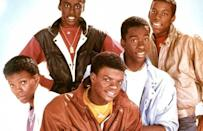 """<p>New Edition came on the scene and captured the hearts of fans with their smooth harmonies and upbeat sound. They were considered the 80s version of the Jackson Five when their single <a href=""""https://www.amazon.com/Candy-Girl/dp/B004GOB1WW/?tag=syn-yahoo-20&ascsubtag=%5Bartid%7C10055.g.33861456%5Bsrc%7Cyahoo-us"""" rel=""""nofollow noopener"""" target=""""_blank"""" data-ylk=""""slk:""""Candy Girl"""""""" class=""""link rapid-noclick-resp"""">""""Candy Girl"""" </a>propelled them to fame. They became the first in a line of boy bands that reigned in the 80s and 90s.</p>"""