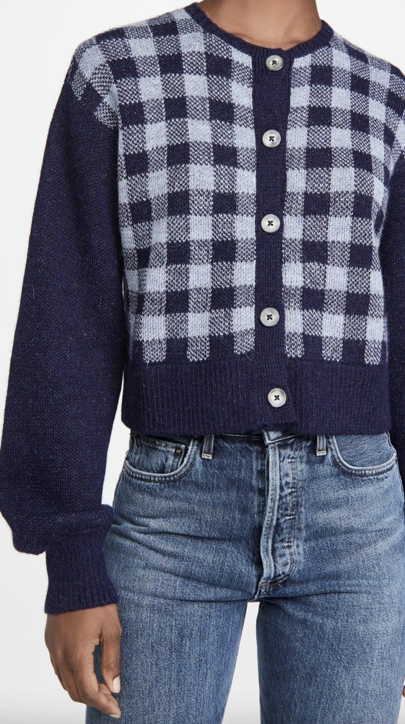 <p>Tap into the check print trend with this <span>Ciao Lucia Varese Alpaca Sweater</span> ($375).</p>