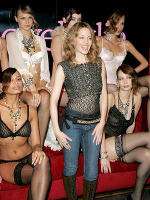 <p>Love Kylie, designed by Kylie Minogue and made by Holeproof, hit stores in 2004. The pop showgirl's risqué lingerie line featured plenty of ribbons and frills.</p>