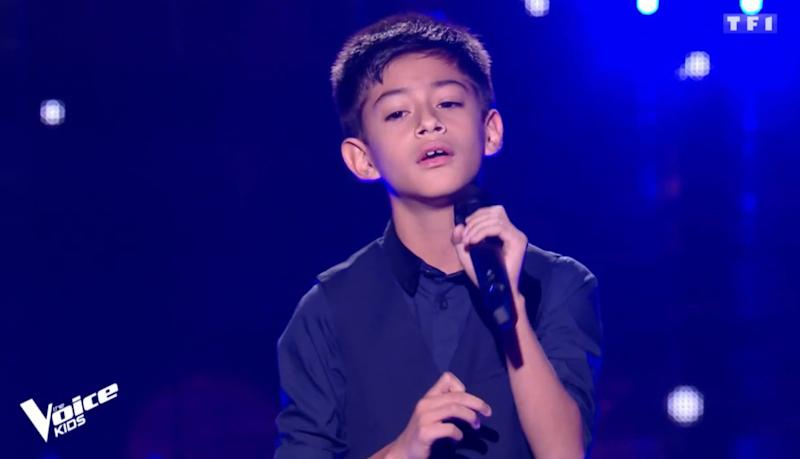 Ilan dans The Voice Kids - Capture d'écran TF1