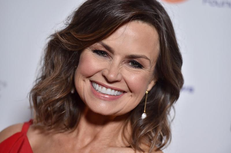 Journalist Lisa Wilkinson wears a red dress at the inaugural Los Angeles gala dinner in support of The Fred Hollows Foundation at DREAM Hollywood on November 15, 2017 in Hollywood, California.
