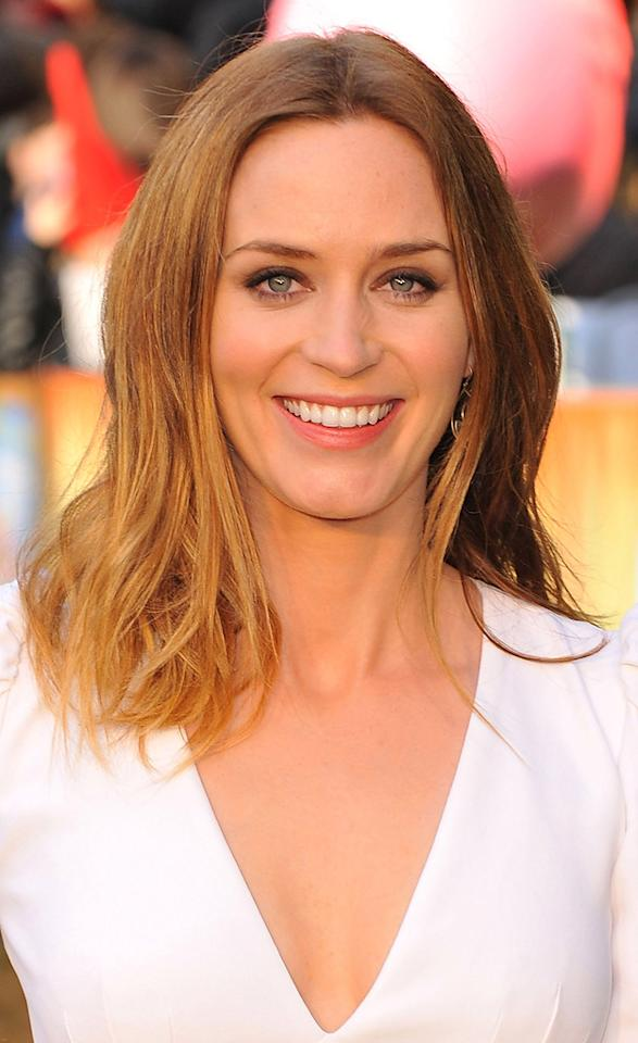 """<a href=""""http://movies.yahoo.com/movie/contributor/1808577445"""">Emily Blunt</a> attends the London premiere of <a href=""""http://movies.yahoo.com/movie/1810080528/info"""">Gnomeo & Juliet</a> on January 30, 2011."""
