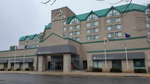 The Delta Fredericton is one of New Brunswick's designated self-isolation hotels. (Shane Fowler/CBC - image credit)