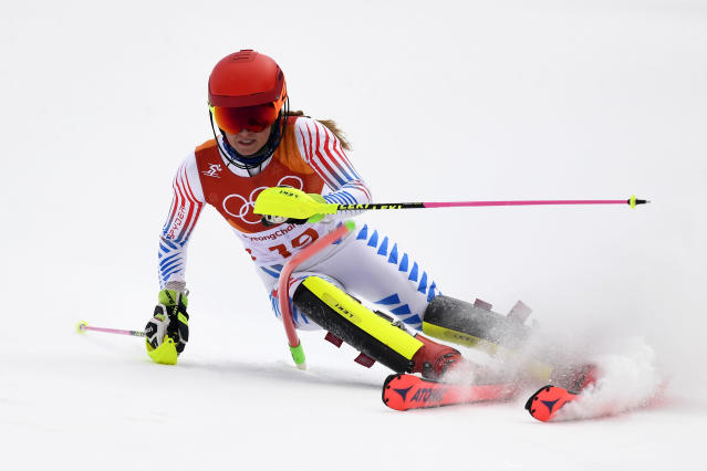 <p>Mikaela Shiffrin of USA wins the silver medal during the Alpine Skiing Women's Combined at Jeongseon Alpine Centre on February 22, 2018 in Pyeongchang-gun, South Korea. (Photo by Alain Grosclaude/Agence Zoom/Getty Images) </p>