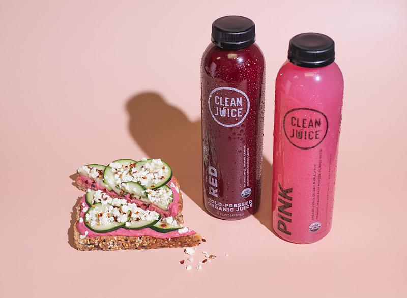 clean juice with hummus toast