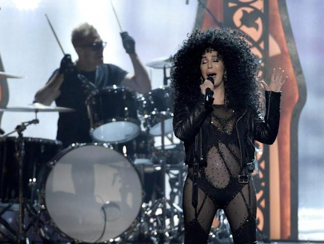 "Cher rocking ""Turn Back Time"" at the <em>Billboard</em> Music Awards. (Photo: Chris Pizzello/Invision/AP)"