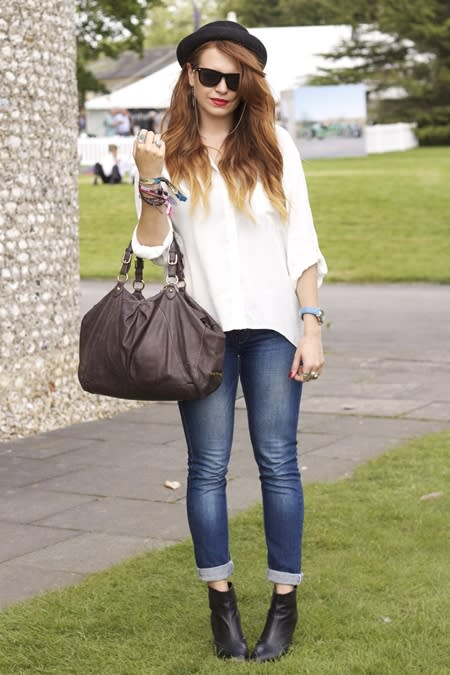 <b>Amelia Farhang, 20, student </b><br><br>Topshop hat, Zara shirt, bag by Miu Miu, jeans by Kate Moss for Topshop, boots by Urban Outfitters, Rolex watch, sunglasses from a market in Brighton.