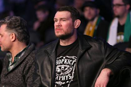 Forrest Griffin looks on during a 2015 UFC event. (AP)