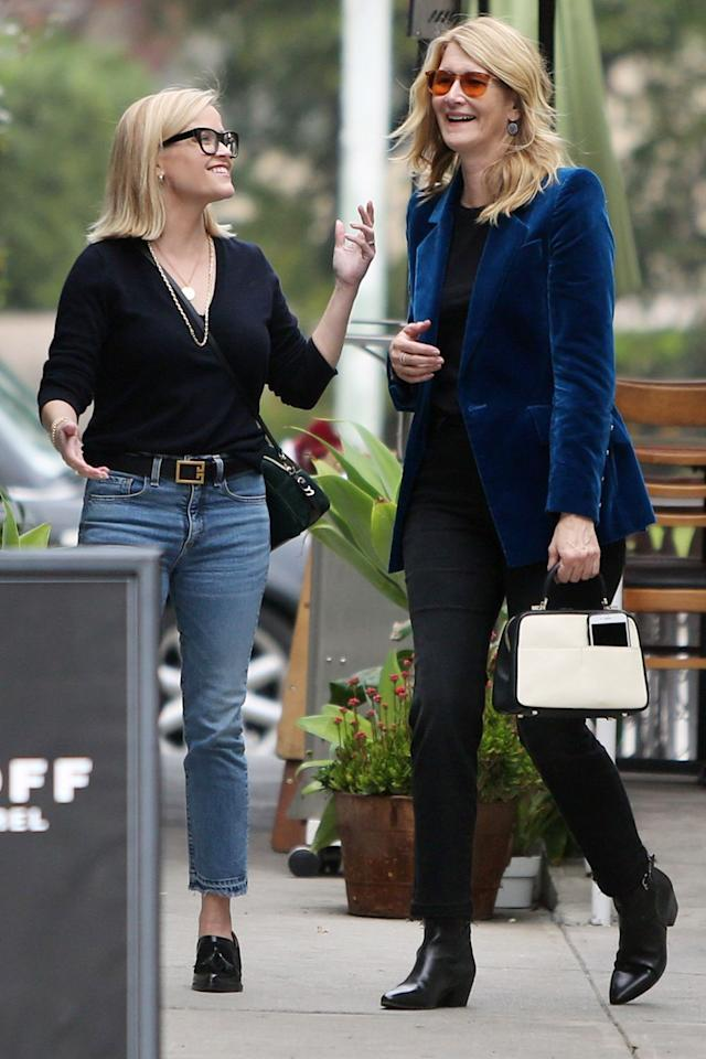 Reese Witherspoon and Laura Dern are seen catching up the day after Christmas in L.A. on Thursday.