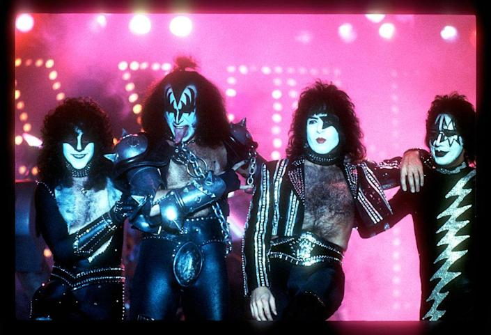 Paul Stanley, Peter Criss , Gene Simmons, Ace Frehley, OF Kiss - Credit: Armando Gallo/Getty Images
