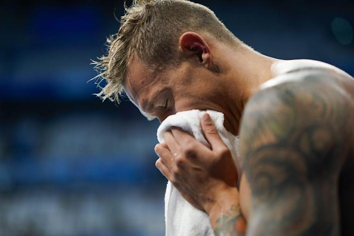 <p>The athlete swam the butterfly leg in the men's 4x100-meter medley relay final.</p>