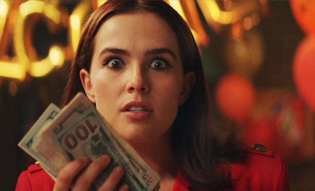Peg Dahl (Zoey Deutch) quickly realises the impossibility of paying tuition. (Sky Cinema)