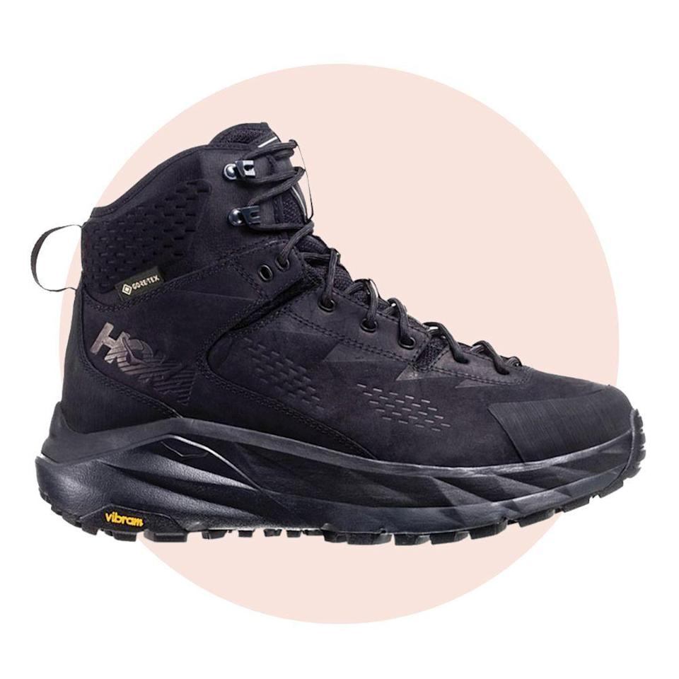 """<p><strong>Hoka One One</strong></p><p>rei.com</p><p><strong>$220.00</strong></p><p><a href=""""https://go.redirectingat.com?id=74968X1596630&url=https%3A%2F%2Fwww.rei.com%2Fproduct%2F167702&sref=https%3A%2F%2Fwww.bestproducts.com%2Flifestyle%2Fg34449251%2Fbest-of-the-best-2020%2F"""" rel=""""nofollow noopener"""" target=""""_blank"""" data-ylk=""""slk:Shop Now"""" class=""""link rapid-noclick-resp"""">Shop Now</a></p><p>Our <a href=""""https://www.bestproducts.com/fitness/a30971949/hoka-sky-kaha-gtx-hiking-boot-review/"""" rel=""""nofollow noopener"""" target=""""_blank"""" data-ylk=""""slk:resident hiker at BestProducts.com"""" class=""""link rapid-noclick-resp"""">resident hiker at BestProducts.com</a> put these Hoka One One hiking boots to the test and came out blister-free and ready to keep climbing. The Sky Kaha GTX boot is unbelievably waterproof, comfortable, and weigh in at just under two pounds. </p><p>Though they are lightweight, these boots have excellent traction, such plush cushioning, and stability for days (or, miles).</p>"""