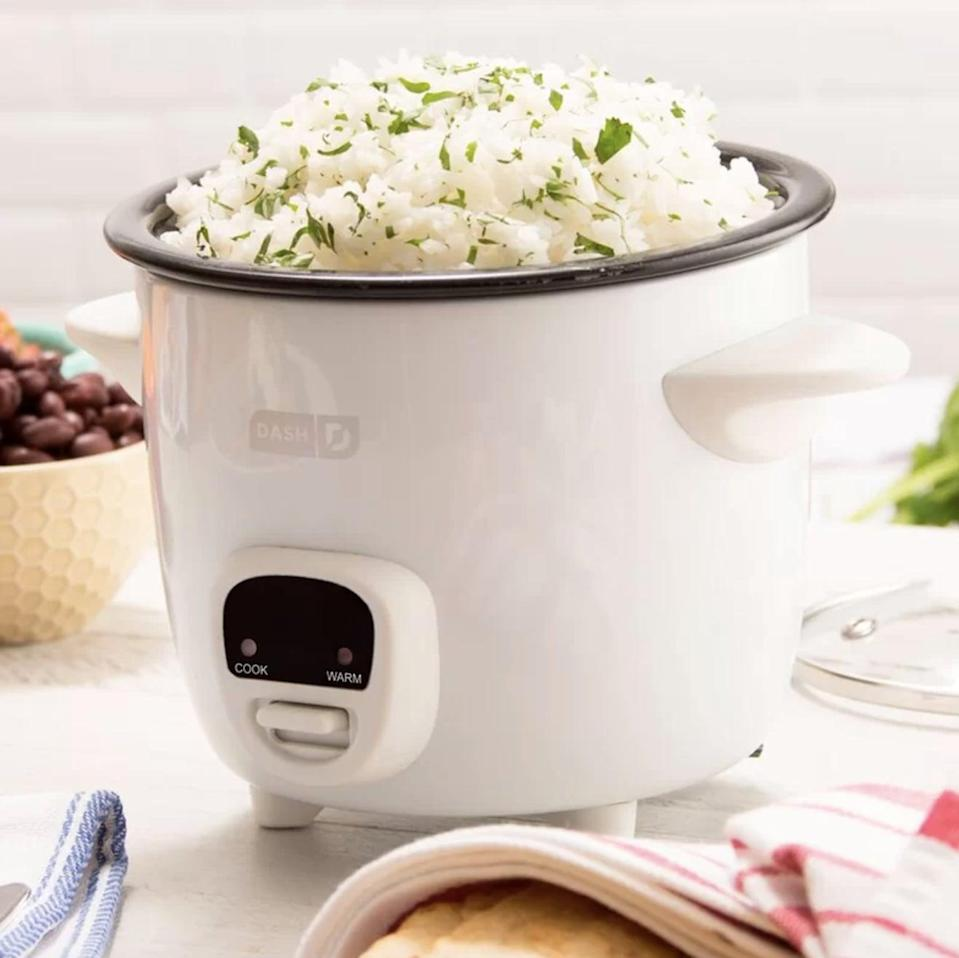 <p>This <span>Dash 2 Cup Mini Rice Cooker</span> ($26, originally $30) is both cute and handy.</p>