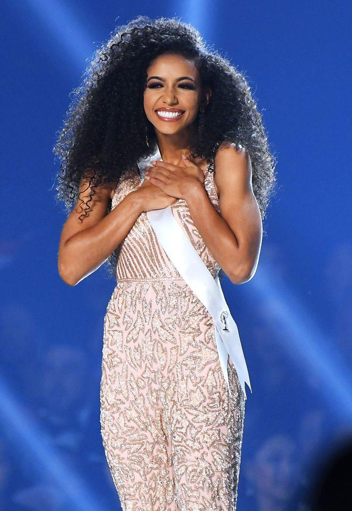 Miss USA Cheslie Kryst at Sunday's Miss Universe competition in Atlanta | Paras Griffin/Getty
