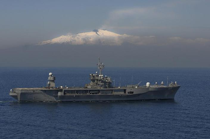 The USS Mount Whitney is the flagship of the US 6th Fleet AFP PHOTO / US NAVY / Mass Communication Specialist 2nd Class Daniel Viramontes (AFP Photo/Daniel Viramontes)