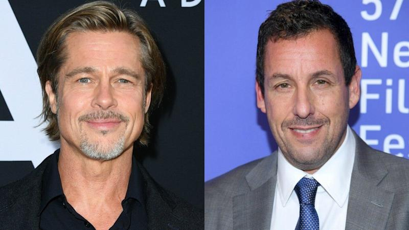 Brad Pitt Shares Story About Adam Sandler's Professor Telling Comedian to Quit Acting