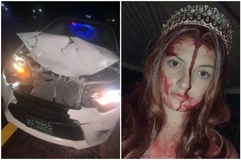 Girl Crashes Her Car in Bloody 'Carrie' Costume for Halloween, Officers Think She is Dead