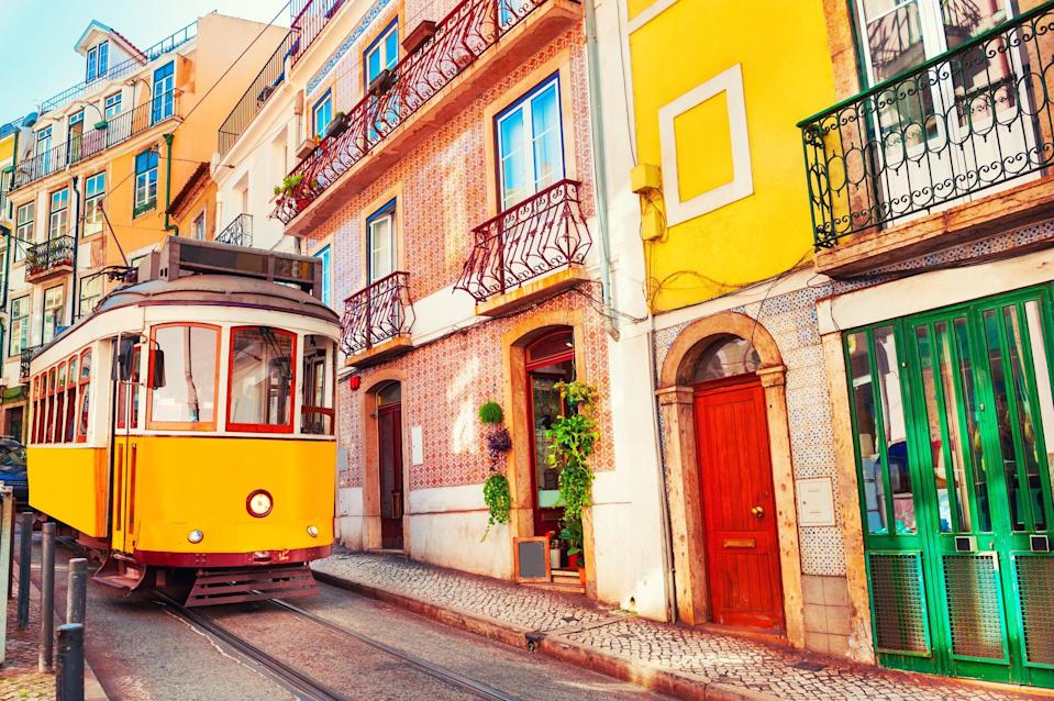 A vintage tram in Lisbon, Portugal (Getty Images/iStockphoto)