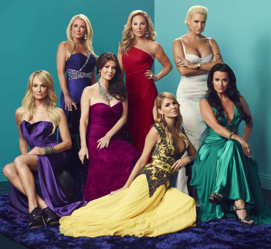 """The cast of """"The Real Housewives of Beverly Hills"""" Season 3."""