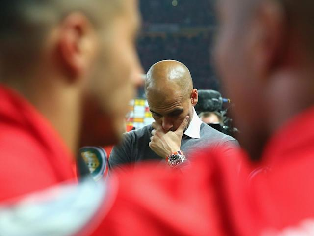 Guardiola was never able to guide Bayern to European glory (Getty)