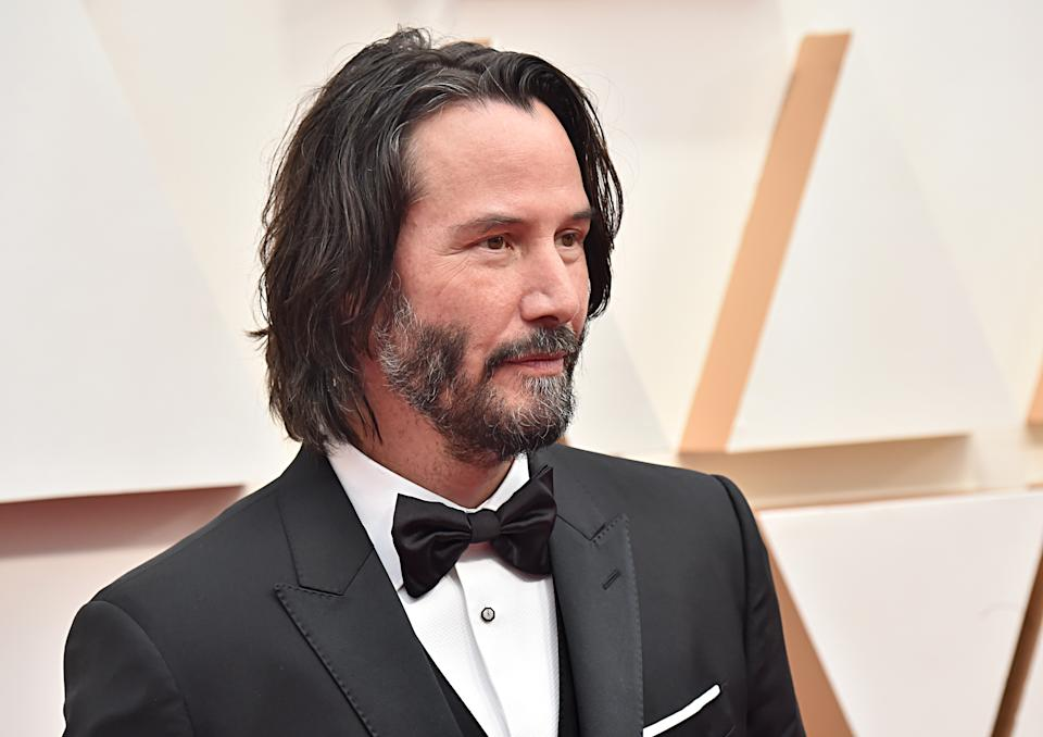 Keanu Reeves attends the 92nd Academy Awards on February 09, 2020. (Photo by Jeff Kravitz/FilmMagic)