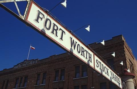 "Fort Worth basks in an ""Old West"" vibe in its Stockyards - Credit: getty"