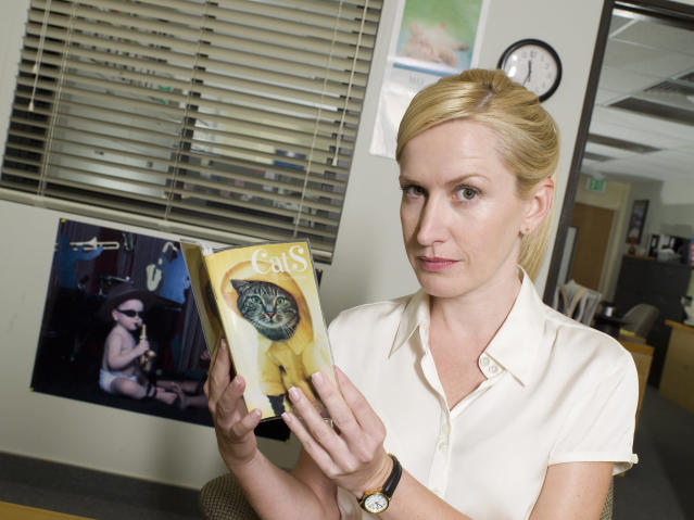 "Angela Kinsey as Angela Martin on ""The Office."" (Photo: Mitchell Haaseth/NBC/NBCU Photo Bank via Getty Images)"