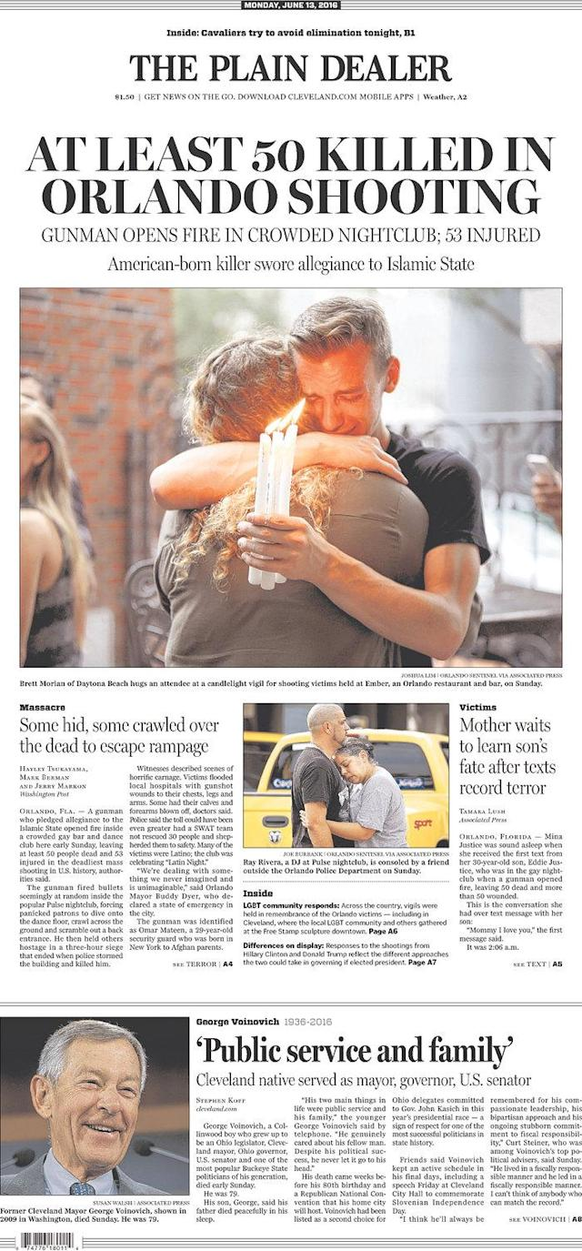 <p>The Plain Dealer<br> Published in Cleveland, Ohio USA. (newseum.org) </p>