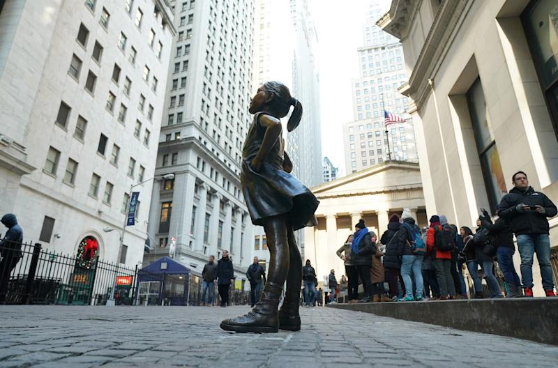 The Fearless Girl campaign was launched by State Street on International Women's Day 2017. The statue is meant to