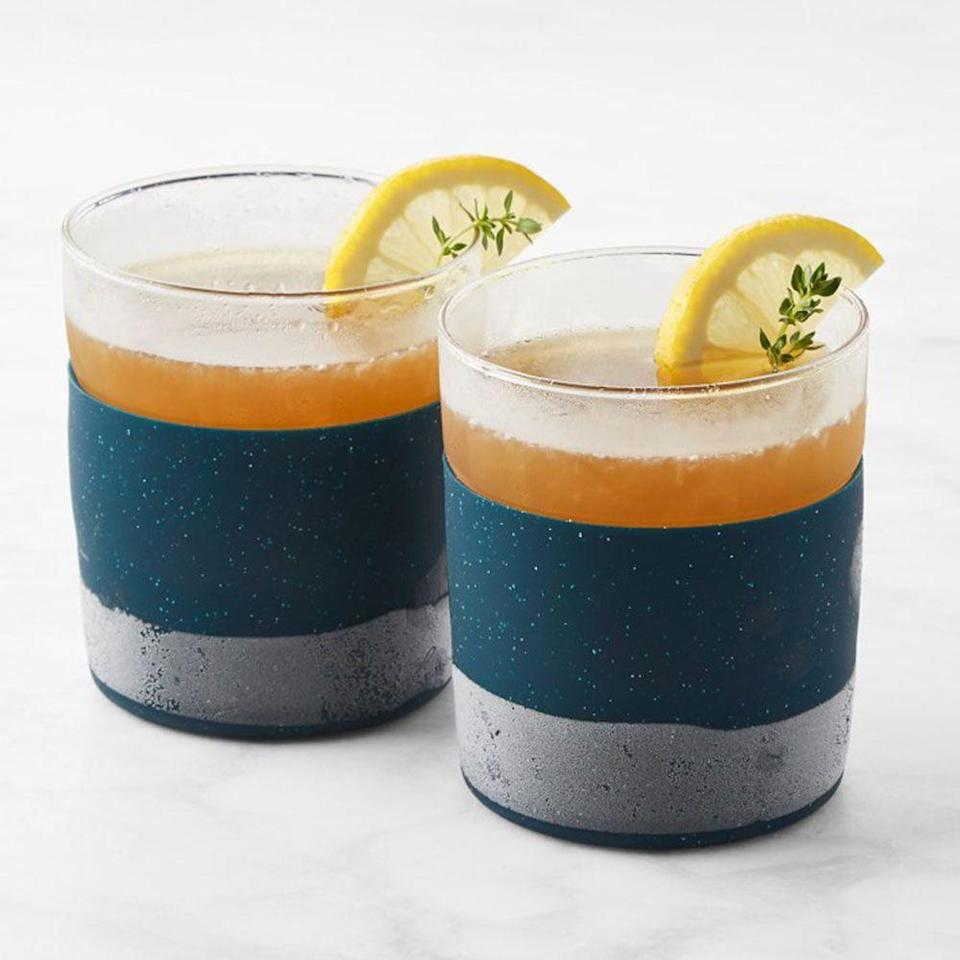 "<p>williams-sonoma.com</p><p><strong>$24.95</strong></p><p><a href=""https://go.redirectingat.com?id=74968X1596630&url=https%3A%2F%2Fwww.williams-sonoma.com%2Fproducts%2Frabbit-freezable-whiskey-glasses&sref=https%3A%2F%2Fwww.redbookmag.com%2Ffood-recipes%2Fg34824733%2Fwhiskey-gifts-for-whiskey-lovers%2F"" rel=""nofollow noopener"" target=""_blank"" data-ylk=""slk:BUY IT HERE"" class=""link rapid-noclick-resp"">BUY IT HERE</a></p><p>You don't necessarily need ice cubes to make a cool, crisp whiskey cocktail. Toss these glasses in the freezer for a few hours, take them out, and pour in your dram of choice for icy refreshment sans ice.</p>"