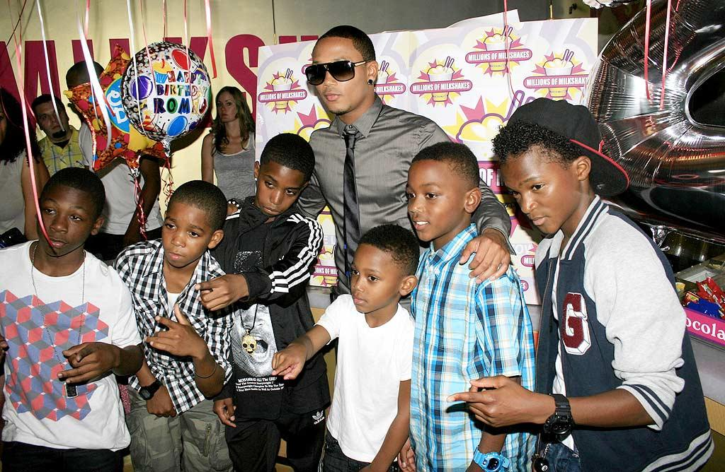 """It's hard to believe, but Romeo Miller (better known as Lil' Romeo) is 21! The actor/rapper celebrated his milestone birthday at Millions of Milkshakes in West Hollywood, California. Teaming up with <a href=""""https://www.cure4kids.org/ums/home/ """" target=""""new"""">CureForKidsCancer.org</a>, he also used the occasion to bring awareness and raise funds for children with the disease. Perez/<a href=""""http://www.x17online.com"""" target=""""new"""">X17 Online</a> - August 19, 2010"""