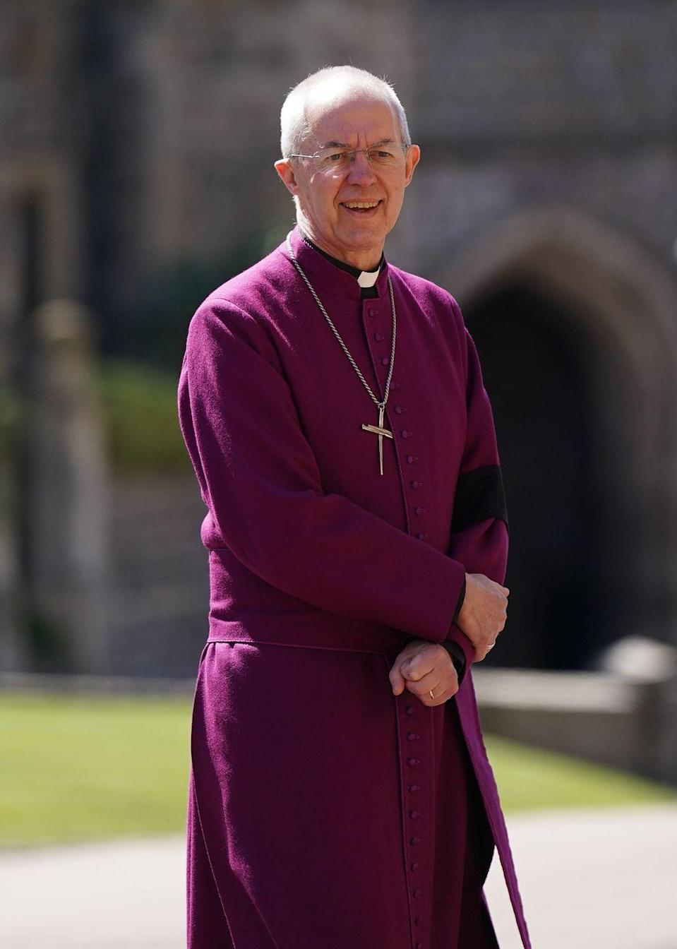 <p>The Archbishop of Canterbury Justin Welby at Windsor Castle.</p>