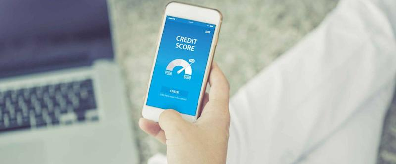 CREDIT SCORE CONCEPT ON SCREEN
