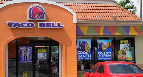 Florida Miami Homestead Taco Bell fast food restaurant Mexican food outside exterior front entrance