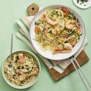 """<p>Pasta is always a go-to for a quick dinner, and this shrimp scampi recipe proves that you don't need much time to produce a high-quality pasta dish. The spiralized zucchini lightens up the dish, making it a lower-carb option.</p><p><em><a href=""""https://www.womansday.com/food-recipes/food-drinks/a28353403/shrimp-scampi-with-zoodles-recipe/"""" rel=""""nofollow noopener"""" target=""""_blank"""" data-ylk=""""slk:Get the Shrimp Scampi with Zoodles recipe."""" class=""""link rapid-noclick-resp"""">Get the Shrimp Scampi with Zoodles recipe.</a></em></p><p><strong>RELATED: </strong><a href=""""https://www.womansday.com/food-recipes/food-drinks/g28357223/seafood-recipes/"""" rel=""""nofollow noopener"""" target=""""_blank"""" data-ylk=""""slk:35 Delicious Seafood Recipes to Cook Right Now"""" class=""""link rapid-noclick-resp"""">35 Delicious Seafood Recipes to Cook Right Now</a></p>"""