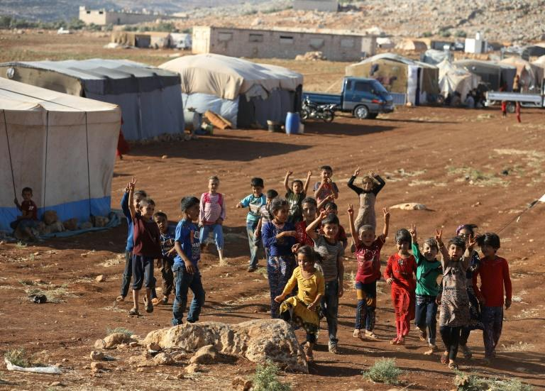 Tens of thousands of people live in camps in rebel-held Idlib province where they fled from other parts of Syria recaptured by government forces but now face the threat of a new assault with nowhere else to go