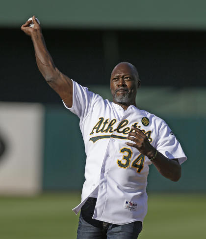 Dave Stewart, current GM of the Diamondbacks, is part of the group unveiling MLB's Pitch Smart initiative. (AP)
