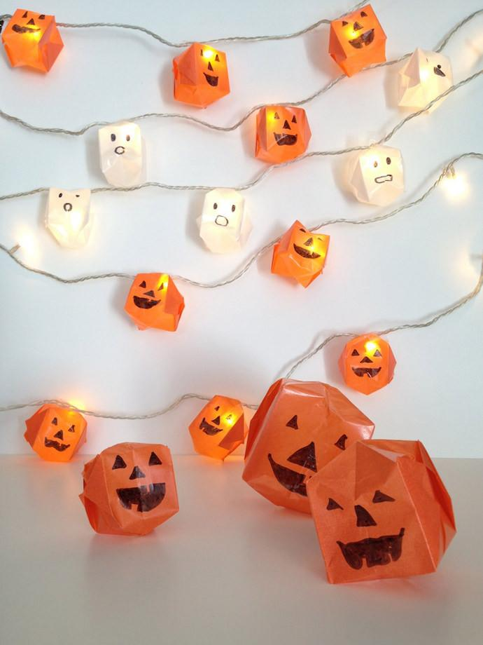 "<p>Pimp a string of LED lights with this clever little <a href=""http://www.handmadecharlotte.com/diy-origami-halloween-lights/"">origami tutorial</a>. </p><p><i>[Photo: Handmade Charlotte]</i></p>"