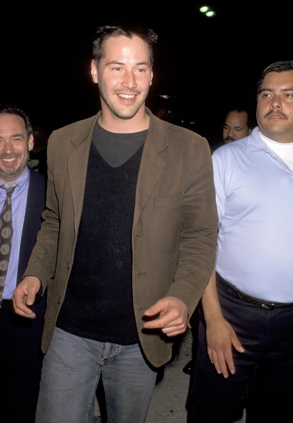 """Reeves at the premiere of """"Twister"""" in Westwood, California."""