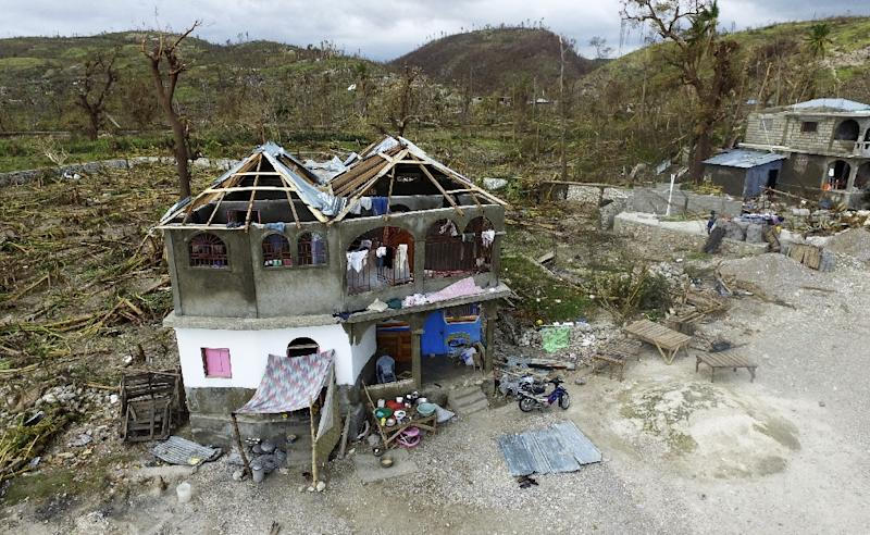 The destruction caused by Hurricane Matthew in Port-Salut, southwest of Port-au-Prince, on October 9, 2016, days after the passage of the hurricane through Haiti (AFP Photo/Nicolas Garcia)