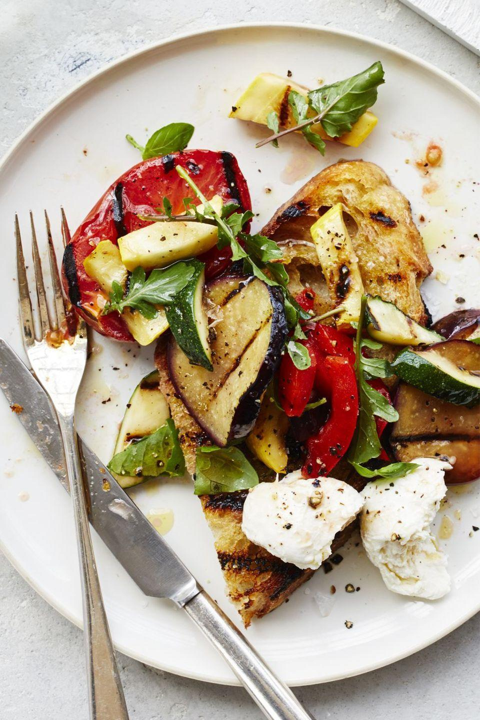 "<p>There's nothing boring about this salad that features fresh mozzarella, grilled pepper, eggplant, and zucchini. </p><p><a href=""https://www.womansday.com/food-recipes/food-drinks/recipes/a59407/ratatouille-salad-recipe/"" rel=""nofollow noopener"" target=""_blank"" data-ylk=""slk:Get the Ratatouille Salad recipe."" class=""link rapid-noclick-resp""><em><strong>Get the Ratatouille Salad recipe.</strong></em></a></p>"