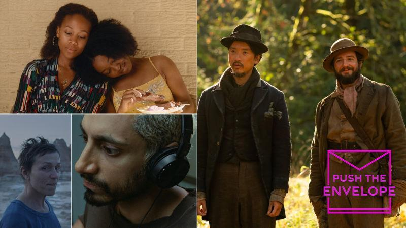 Clockwise from top left: Miss Juneteenth (Vertical Entertainment); First Cow (A24); Sound Of Metal (Amazon Studios); Nomadland (Searchlight Pictures)