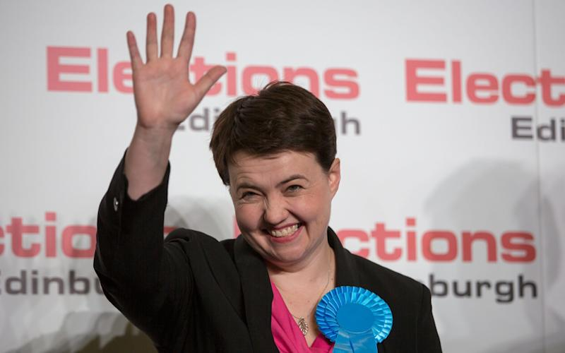 Scottish Conservative Leader Ruth Davidson celebrates being elected Conservative MSP for Edinburgh Central last year - 2016 Getty Images