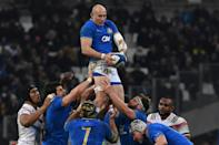 Italy's Sergio Parisse is set to appear at his fifth Rugby World Cup (AFP Photo/boris HORVAT )
