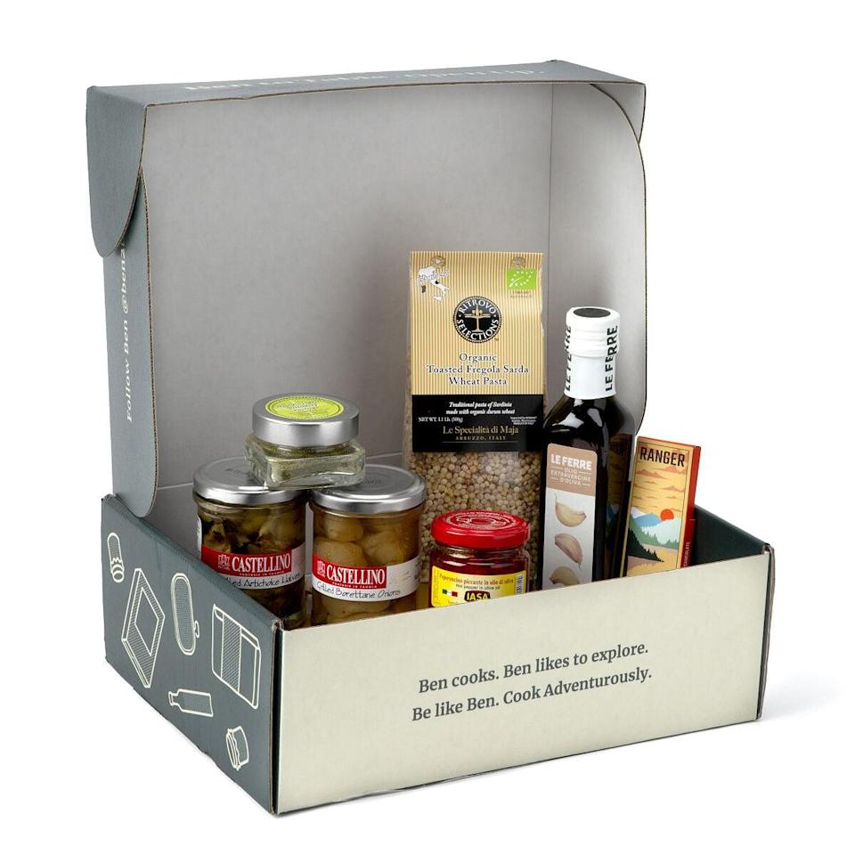 <p>The <span>Taste of Italy Pantry Box</span> ($75) is an amazing way to try out some new cuisines. </p>