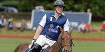 <p>Harry plays in the Gigaset Charity Polo Match at Beaufort Polo Club.</p>