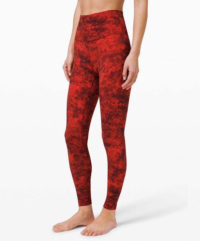 """<p><strong>Lululemon</strong></p><p>lululemon.com</p><p><strong>$118.00</strong></p><p><a href=""""https://go.redirectingat.com?id=74968X1596630&url=https%3A%2F%2Fshop.lululemon.com%2Fp%2Fwomen-pants%2FAlign-Pant-Full-Length-28-LNY%2F_%2Fprod10410057&sref=https%3A%2F%2Fwww.cosmopolitan.com%2Fstyle-beauty%2Ffashion%2Fg35293423%2Flululemon-dropped-a-whole-new-collection-for-lunar-new-year-2020%2F"""" rel=""""nofollow noopener"""" target=""""_blank"""" data-ylk=""""slk:Shop Now"""" class=""""link rapid-noclick-resp"""">Shop Now</a></p><p>The <a href=""""https://www.seventeen.com/fashion/g27325538/best-lululemon-leggings/"""" rel=""""nofollow noopener"""" target=""""_blank"""" data-ylk=""""slk:best Lululemon leggings"""" class=""""link rapid-noclick-resp"""">best Lululemon leggings</a>, but in a bright new print. These babies should be #1 on your shopping list. </p>"""